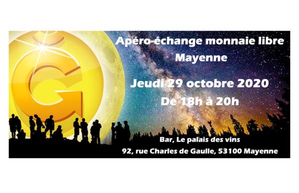 Apéro-échanges Monnaie Libre à Mayenne